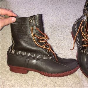 EUC 8M Limited Edition Brown/Brown/Red LLBean